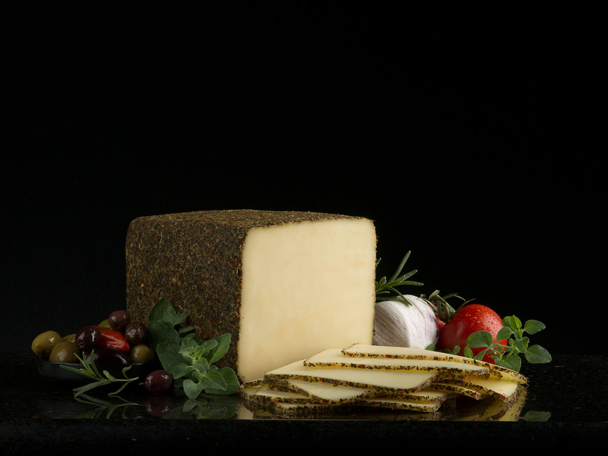 Bold Italian Style Herb Coated Whole Milk Low Moisture